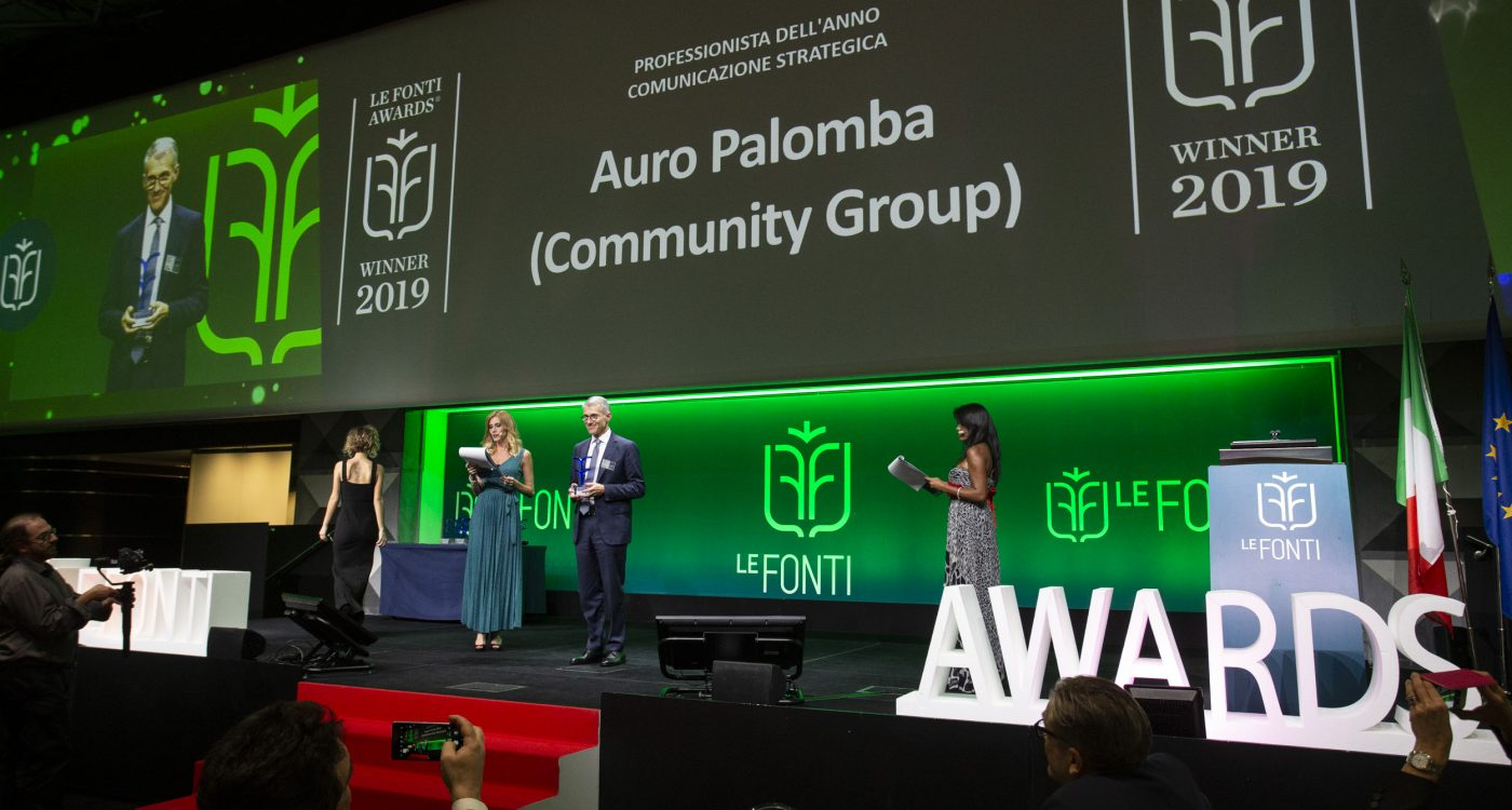 Le Fonti Awards 2019: Auro Palomba awarded best strategic PR